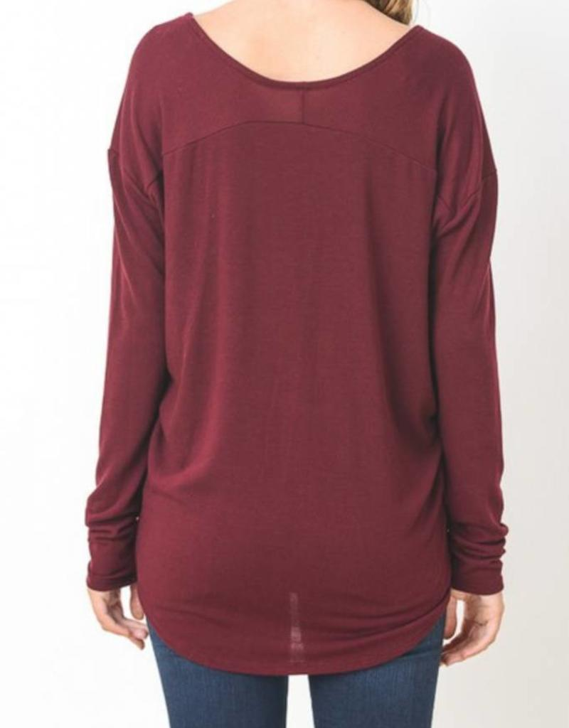 Jersey Long Sleeve Scoop Neck