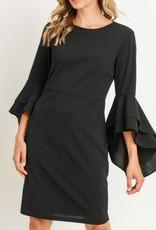 Ruffle Bell Sleeve Dress