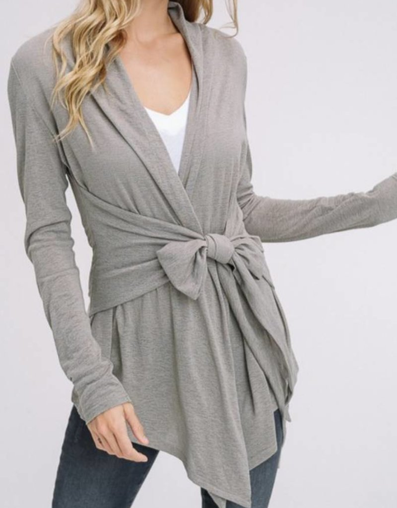 LISTICLE Burnout Knitted Cardi