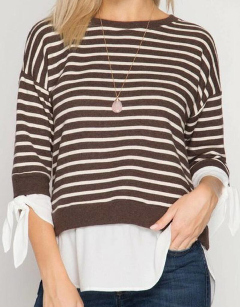 SHE + SKY French Terry Striped