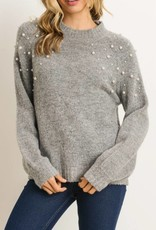 Pearled Bodice Sweater