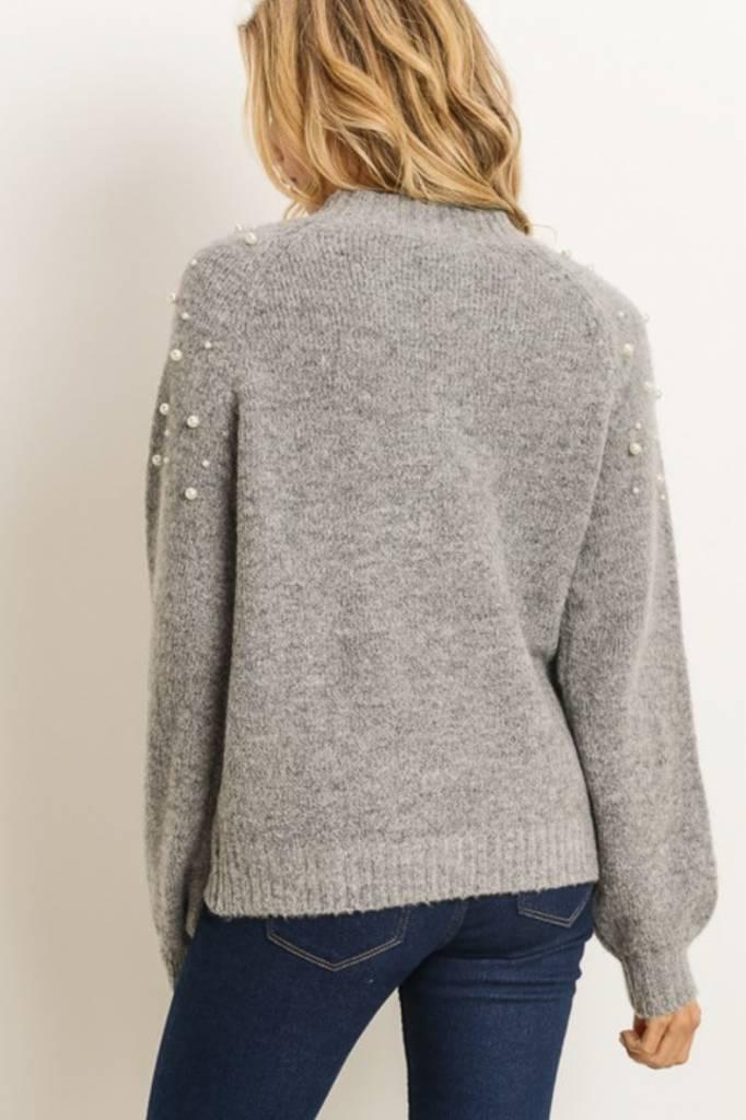 Pearled Bodice Sweater
