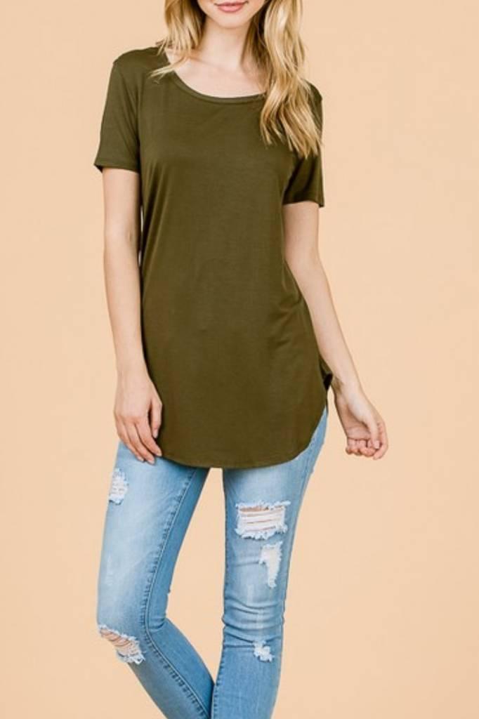 EMMA'S Short Sleeve Tunic Top