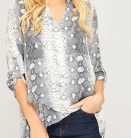 SHE + SKY High-Low Blouse