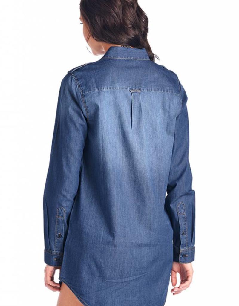 BLUE AGE Chambray Long Sleeve