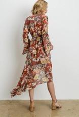 CHARME U Bell Sleeve Floral Frock