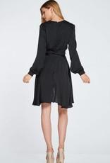 EVENUEL Satin Collared Dress