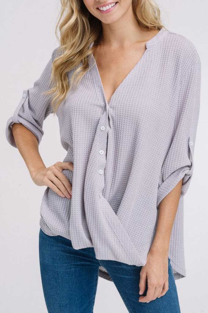 LISTICLE Waffle Button Down