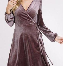 LISTICLE Velvet Wrap Dress