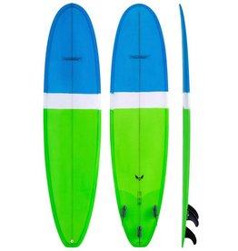 Modern Longboards Blackbird 7'0'' Blue Lime