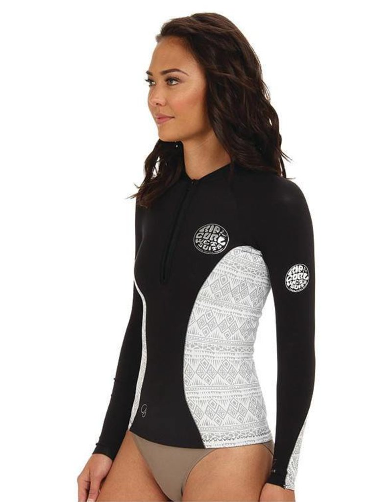 Rip curl G-Bomb Long Sleeve Front Zip Jacket BKW size 4