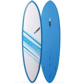 NSP Elements Funboard Surf 7'2 Round Blue