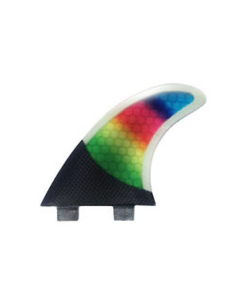 FCS PC5 Carbon Rainbow Tri Fin Set