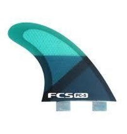 FCS FINS FCS PC 5 Blue Slice Tri Fin Set