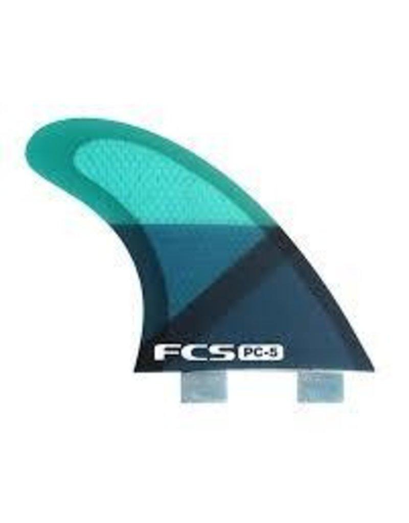 FCS PC 5 Blue Slice Tri Fin Set