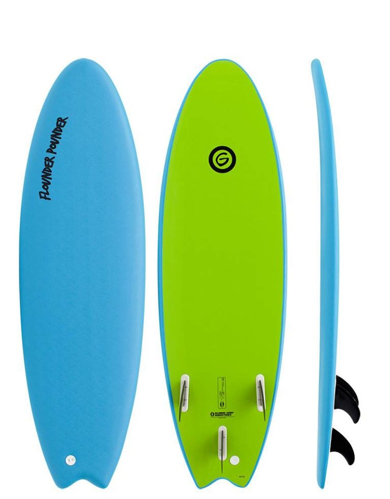 Gnaraloo Flounder Pounder 5'6'' Lime Blue