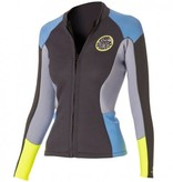 Rip curl Women Dawn Patrol Long Sleeve Jacket Blue