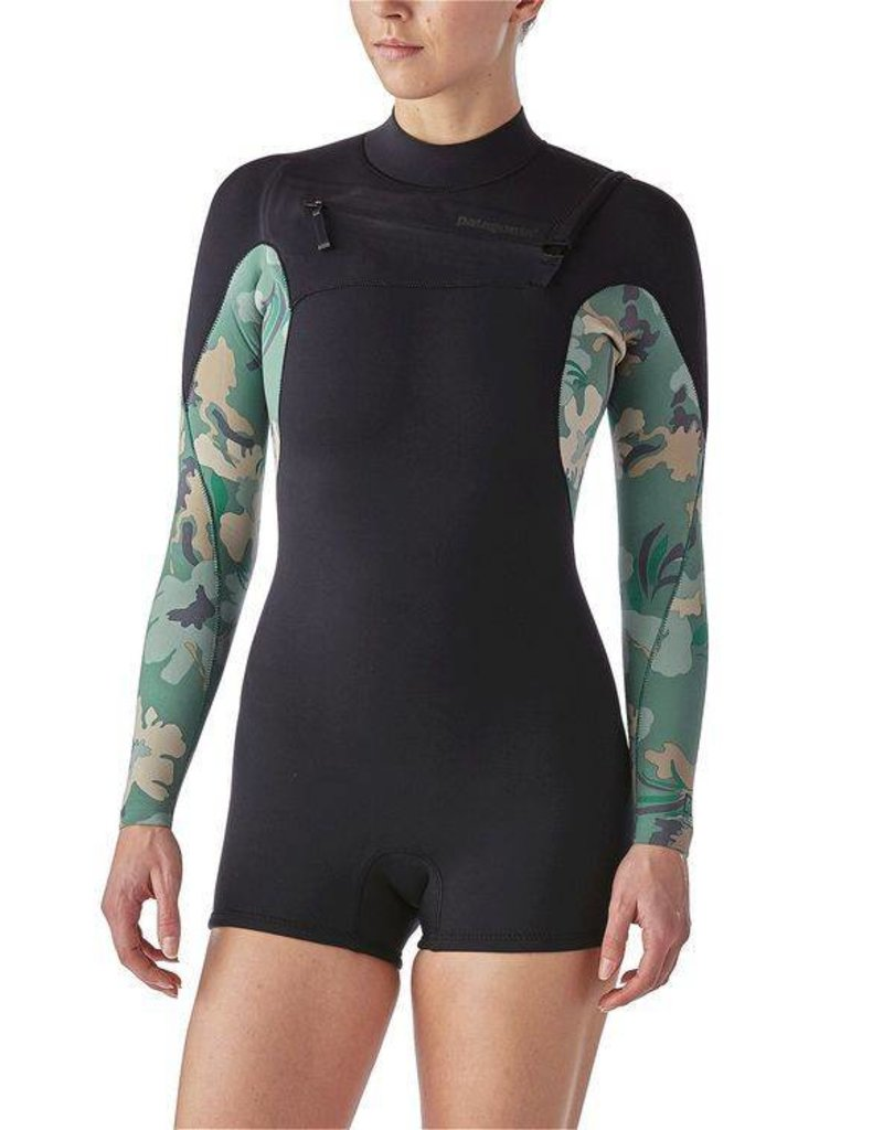 Patagonia W's R1 Lite Yulex FZ L/S Spring Suit Hemlock Green