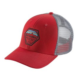 Patagonia Fitz Roy Hex Trucker Hat Fire