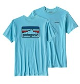 Patagonia M's Line Logo Badge Cotton/Poly Responsibili-tee Cuban Blue
