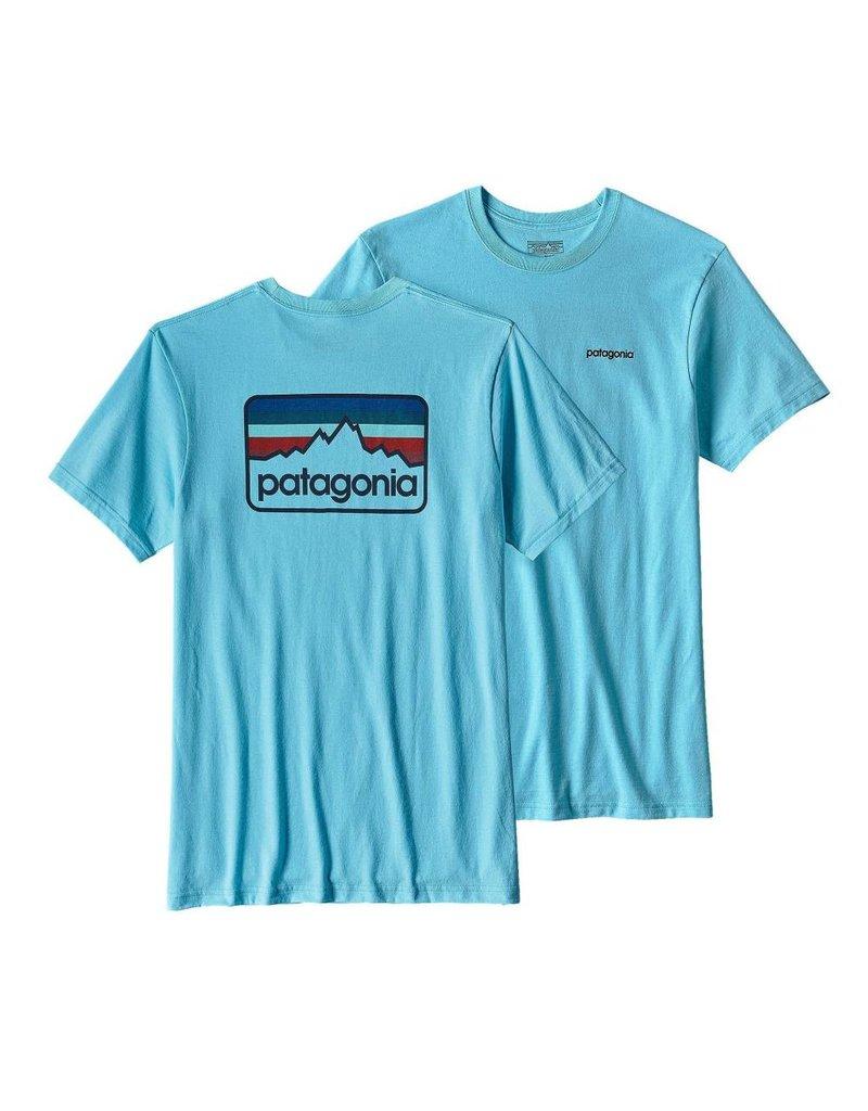 Patagonia M's Line Logo Badge Cotton/Poly Responsibili-tee Cuban Blue