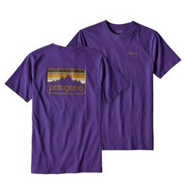 Patagonia M's Line Logo Badge Cotton/Poly Responsibili-tee Purple