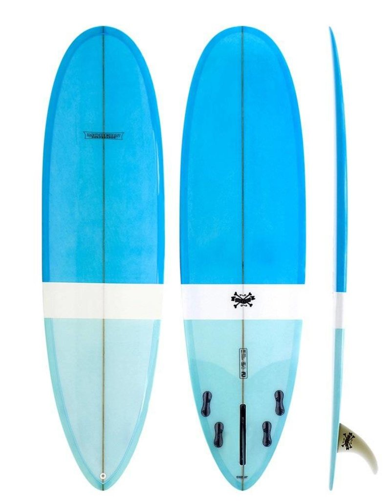 Modern Longboards Love Child 6'8 - Blue Blue