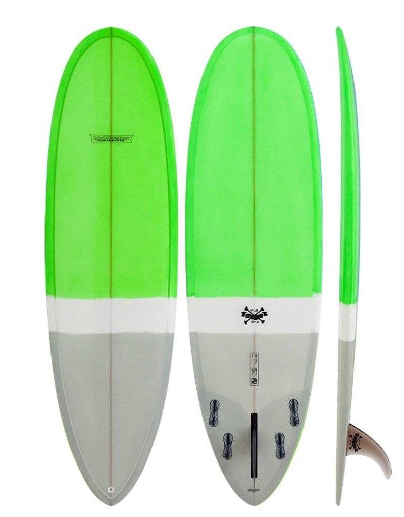 Modern Longboards Love Child 6'8 - Grey Lime