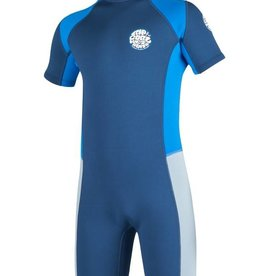 Rip curl Junior Boys Aggrolite S/SL Springsuit 2mm Navy