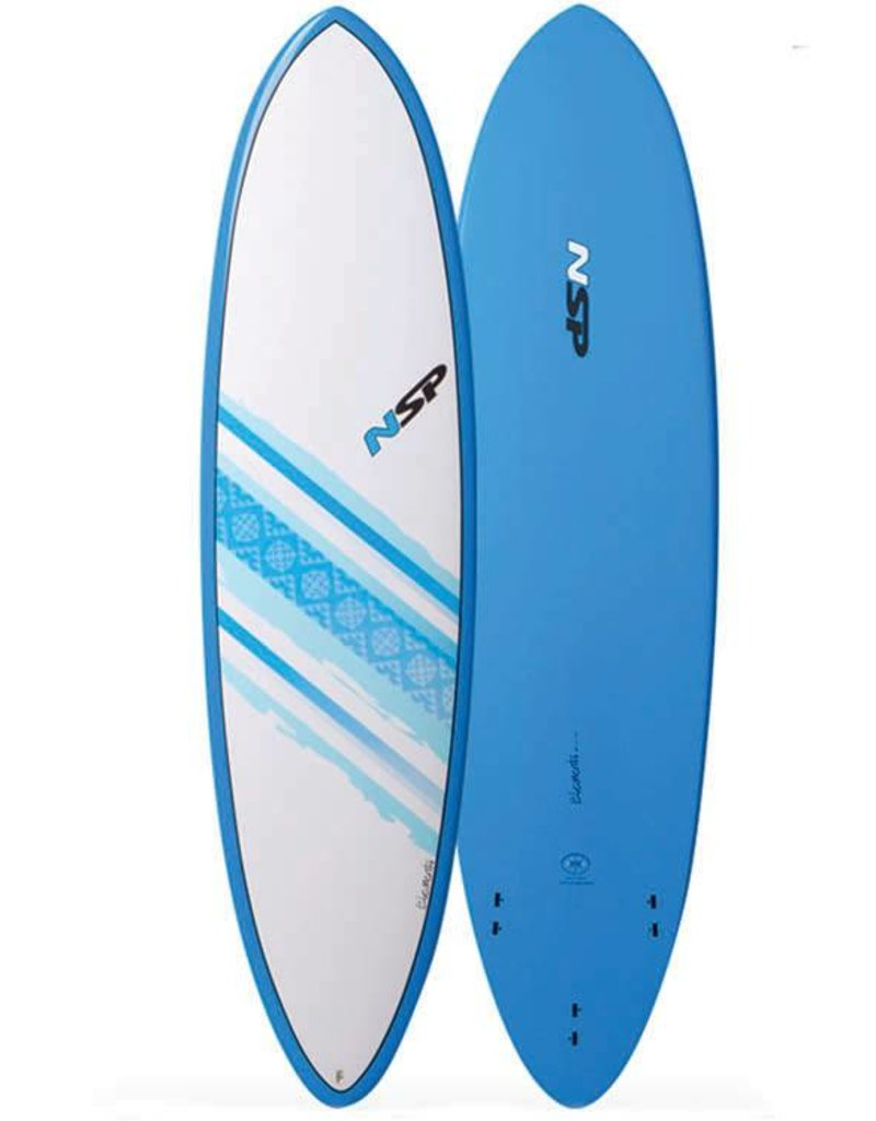 NSP Elements Funboard Surf 6'8 Round Blue
