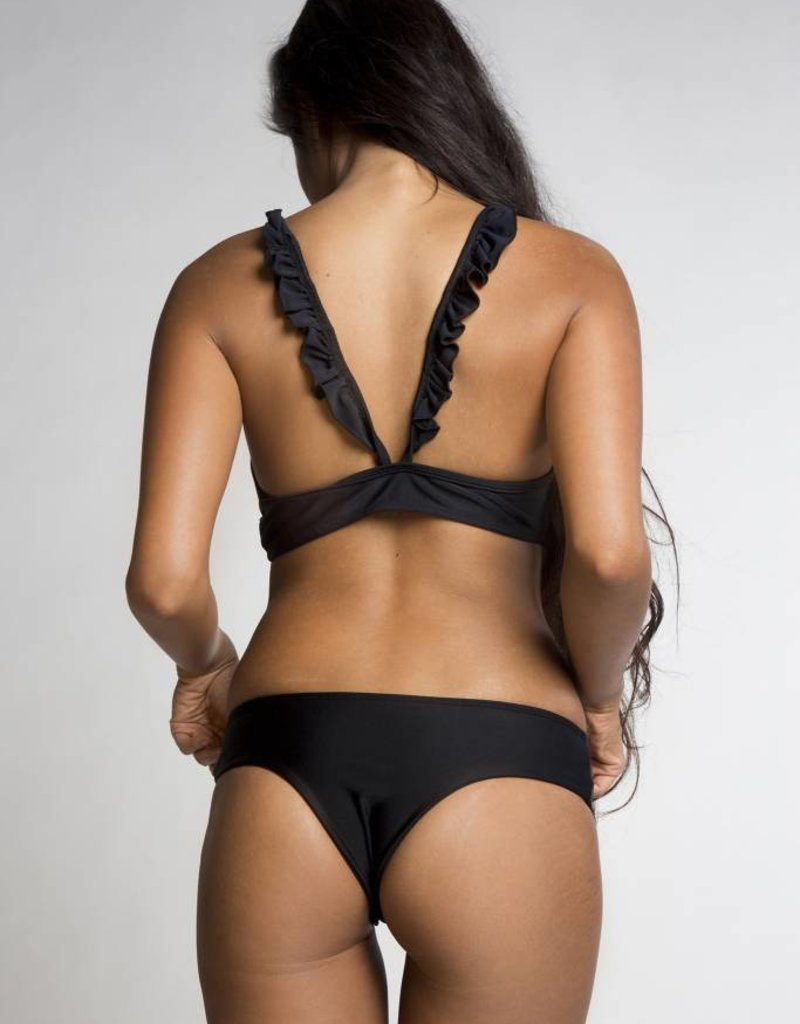 June Swimwear Melli Bikini Top in Ebony