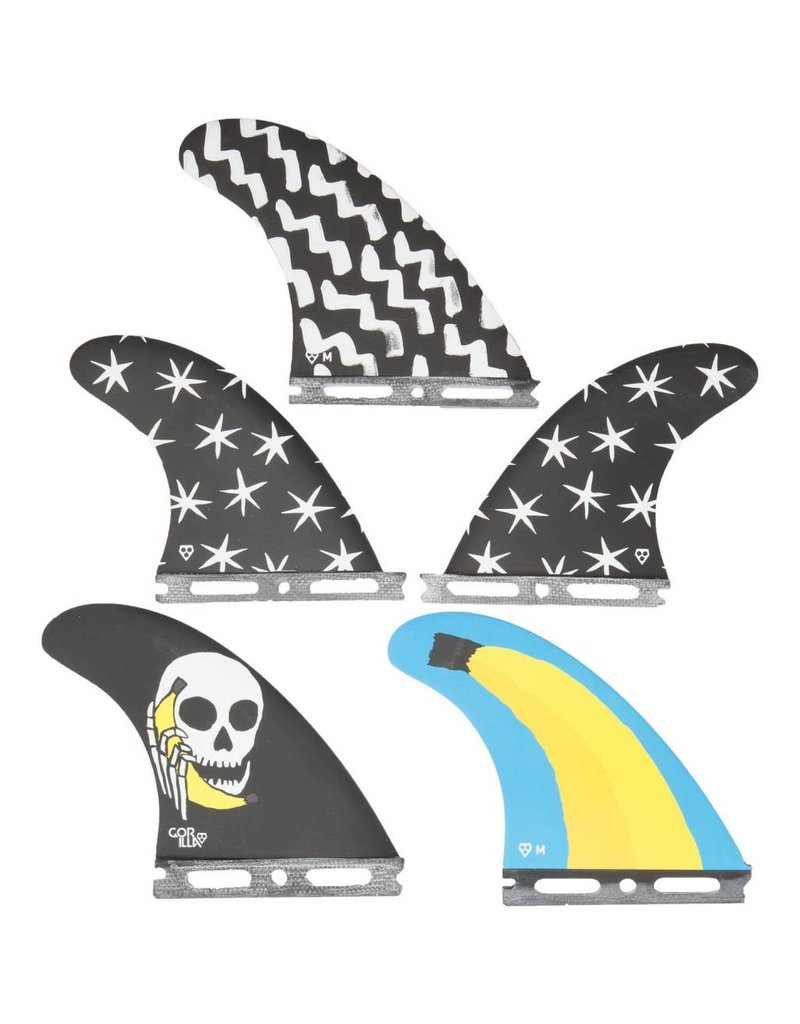 Gorillasurf Futures Hello Str Fkrs Medium Tri-Quad Fin Set