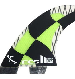 FCS FCS2 MB PC Carbon Medium Tri-Quad Fin Set