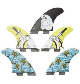 Gorillasurf FCS 2 Sloth Palm Trend Shank LARGE Tri-Quad Set