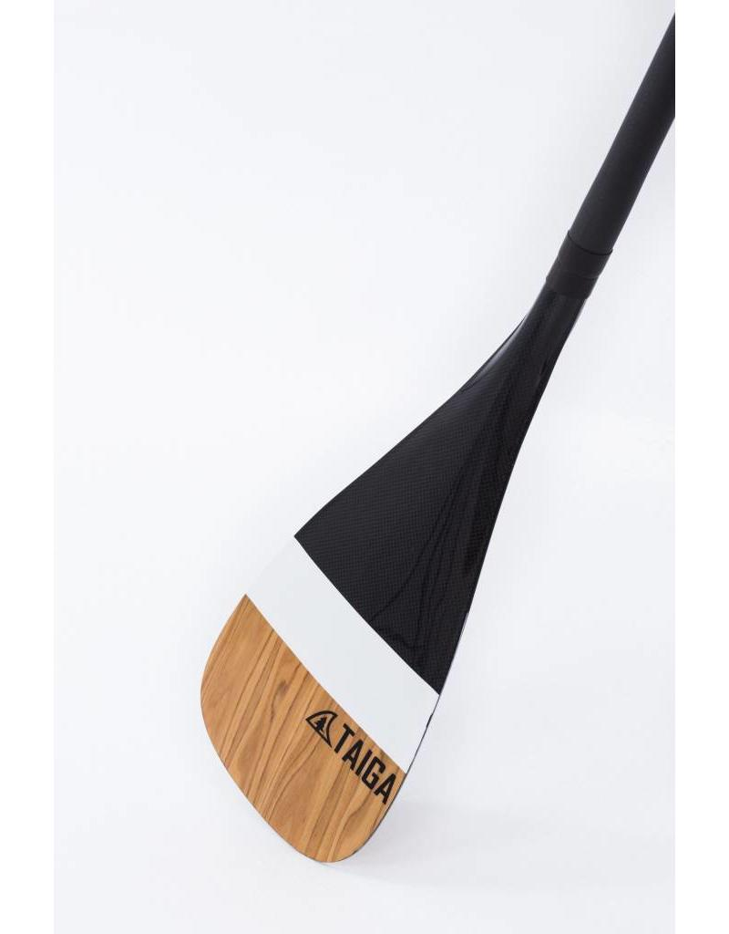 Taiga Paddle Carbon Deluxe - Black/Wood 1 piece