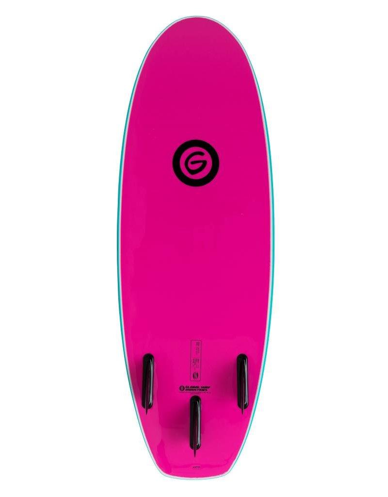 Gnaraloo 4'10 Dune Buggy Pilsner Torq Pink