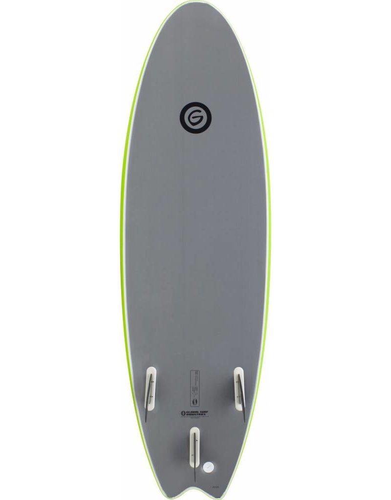 Gnaraloo 6'6 Flounder Pounder Lime / Silver