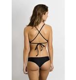 June Swimwear Manue in Ebony/Wolf Réversible Bikini Bottom