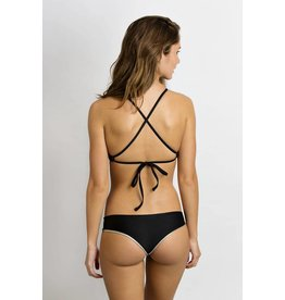 June Swimwear Manue in Ebony/Wolf Reversible Bikini Bottom