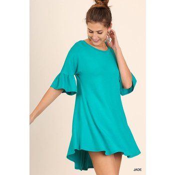 Mini Bell Sleeved Dress