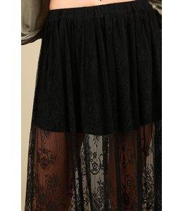 Eyelash lace skirt