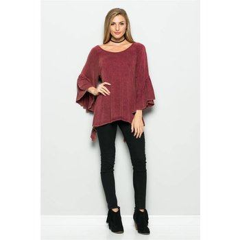 MINERAL BACK RUFFLE OPEN  TOP
