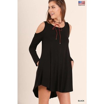 Cold Shoulder Pocket Dress