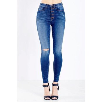 5 Button High Waisted Jeans