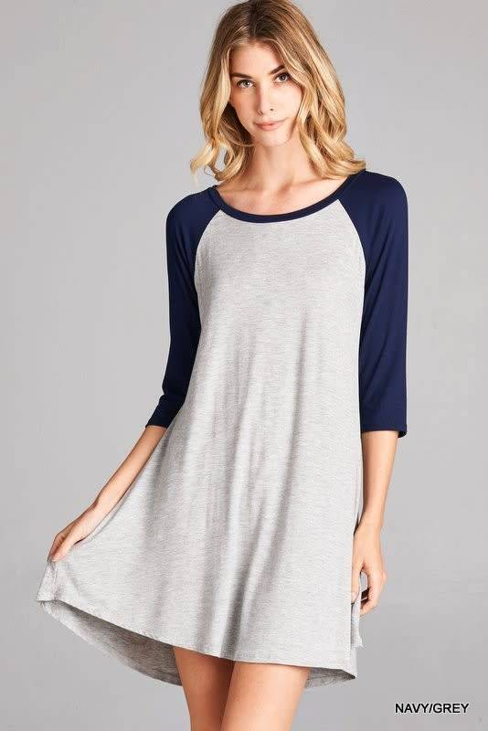 Baseball Tunic Dress