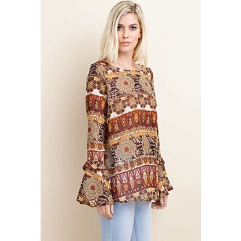 Two Tiered Bell Sleeve Top