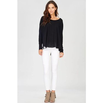 LONG SLEEVE TOP WITH SIDE SLIT