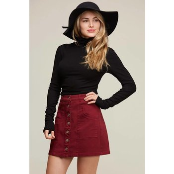 Solid Woven Skirt