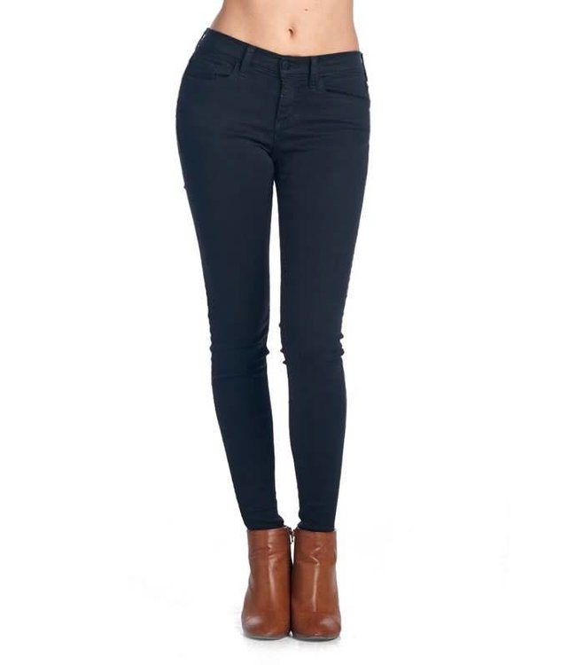 Mid Rise Black Basic Skinny Jeans