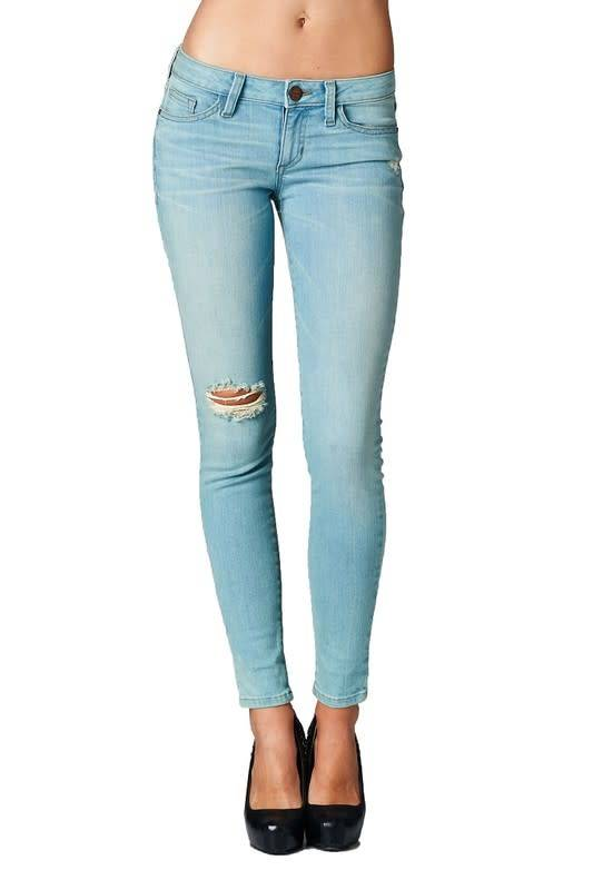 Light Wash Low Rise Skinny Jeans